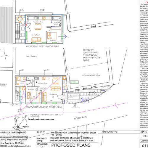 PLANS FOR NEW FLATS