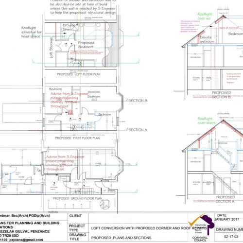 planning drawings penzance